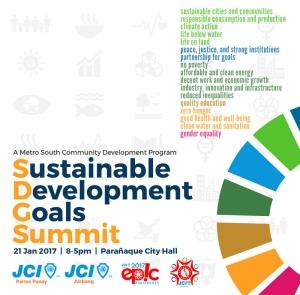 SDG Summit poster JCI Alabang JCI Perlas Pasay
