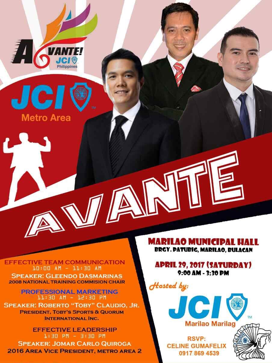 Avante poster - 2nd Area Council Meeting