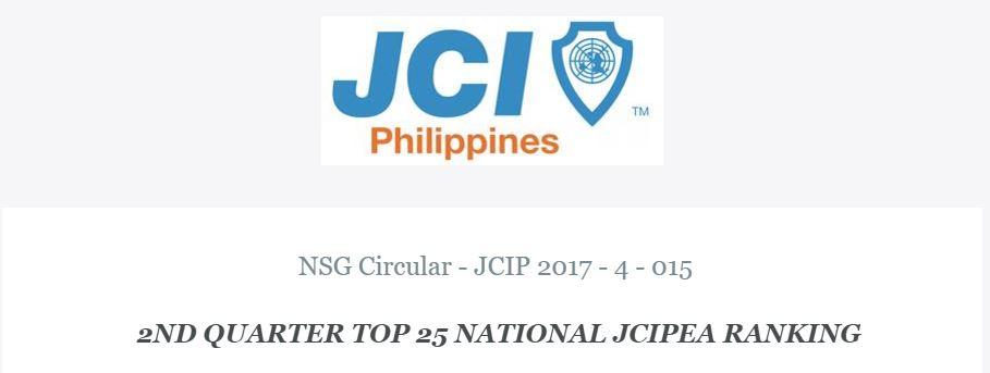 2nd JCIPEA Ranking 2017