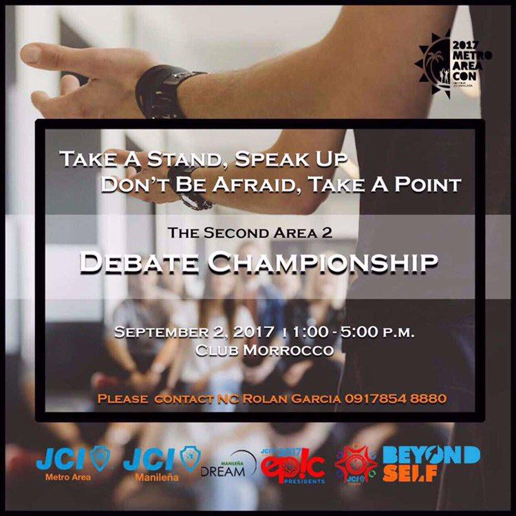 Debate Championship - Areacon 2017
