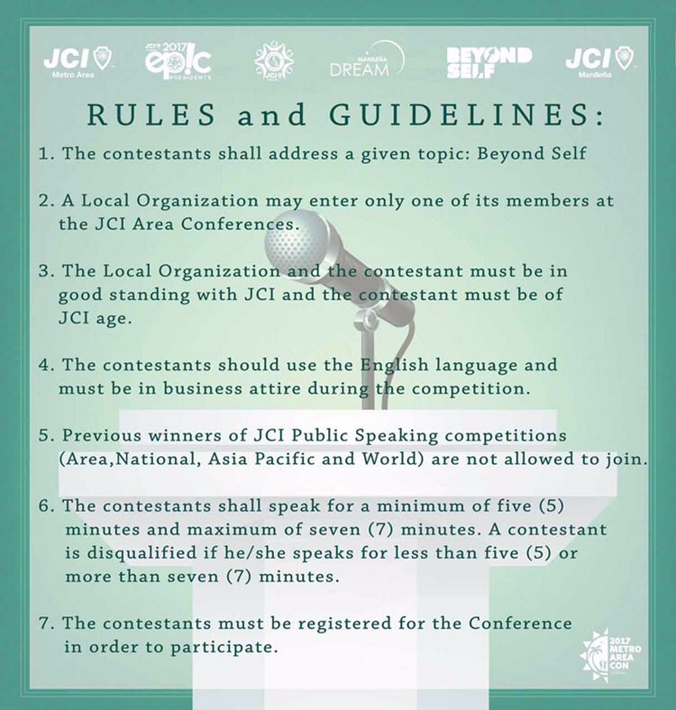 Public Speaking Competition 2017 Rules
